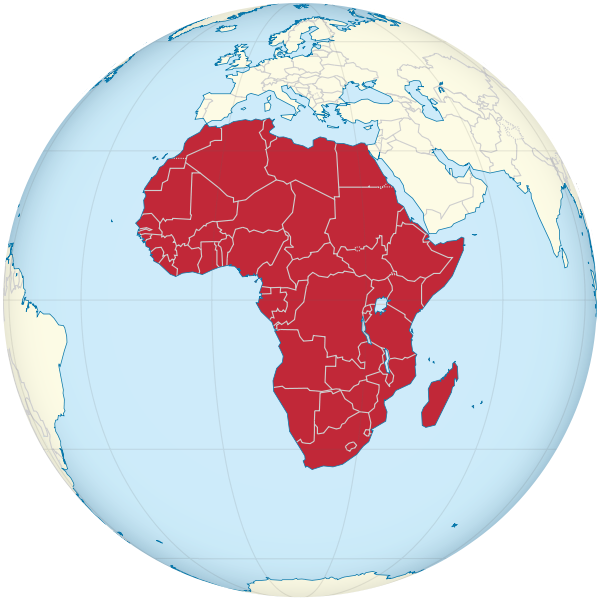 600px Africa on the globe white redsvg